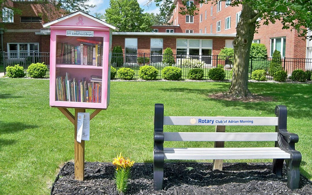 Little Free Library Added to Center Entrance
